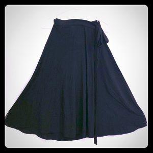 American Apparel black wrap skirt M/L